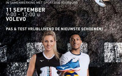 Zaterdag 11 september: Volleybalschoenen passen van Mizuno i.s.m. Sport2000 in Forum Kwadraat